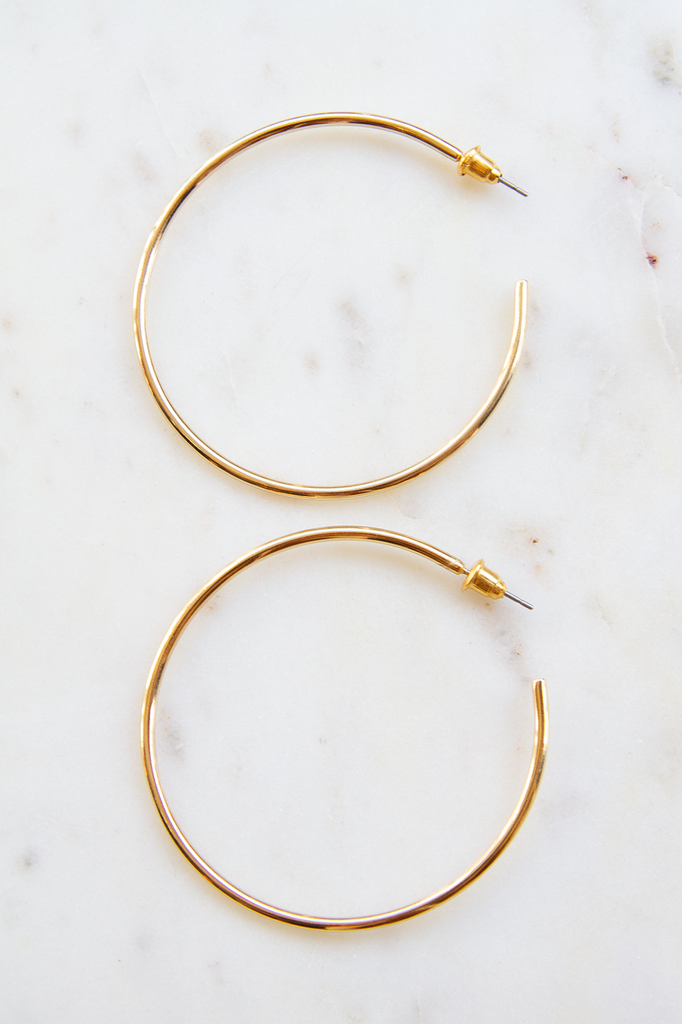 Thin Hoop Earring