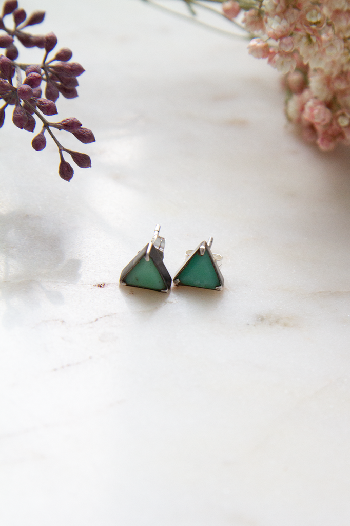 Triangle Stone Stud