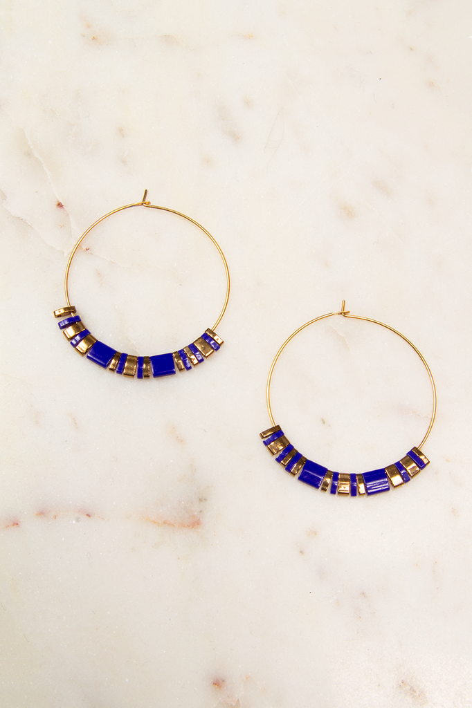 Glass Beaded Hoops