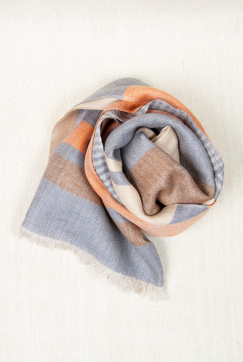 Peachy Keen Wool & Cashmere Scarf