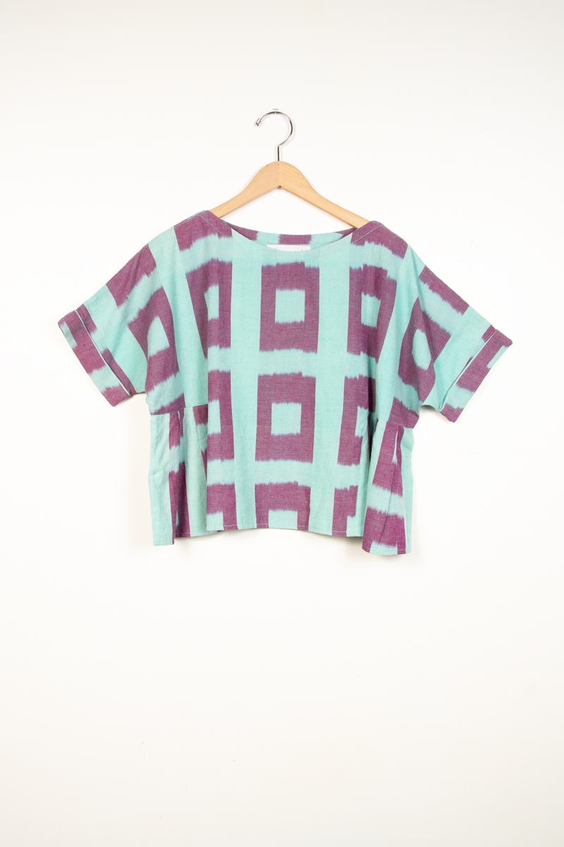 Ikat Box Pleat Top