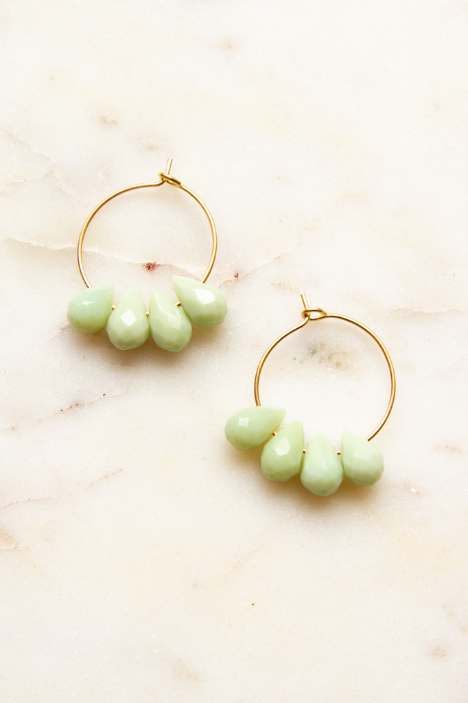 Dyed Jade Hoops
