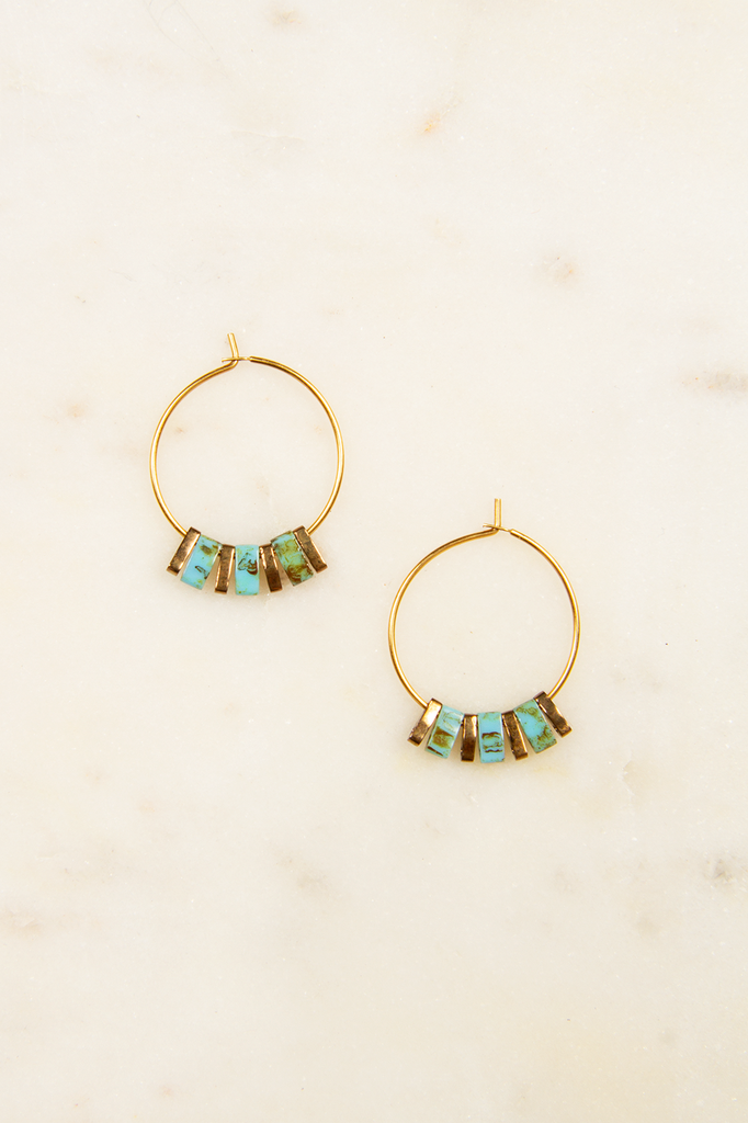Sunny Mini Glass Bead Hoops