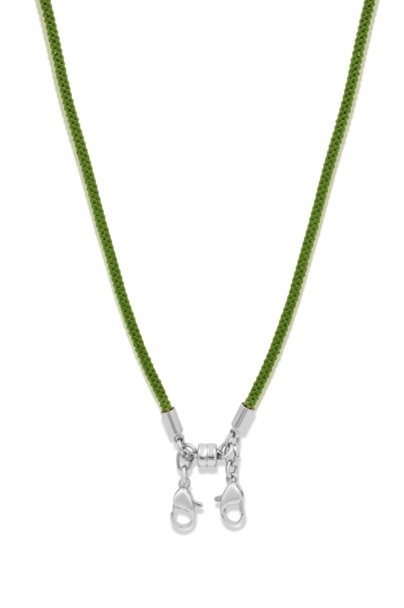 Convertible Cord Necklace, Green