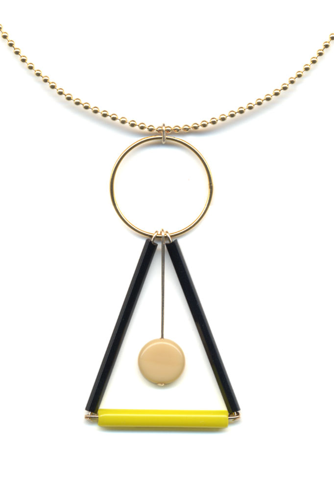 Prism Pendant Chain Necklace