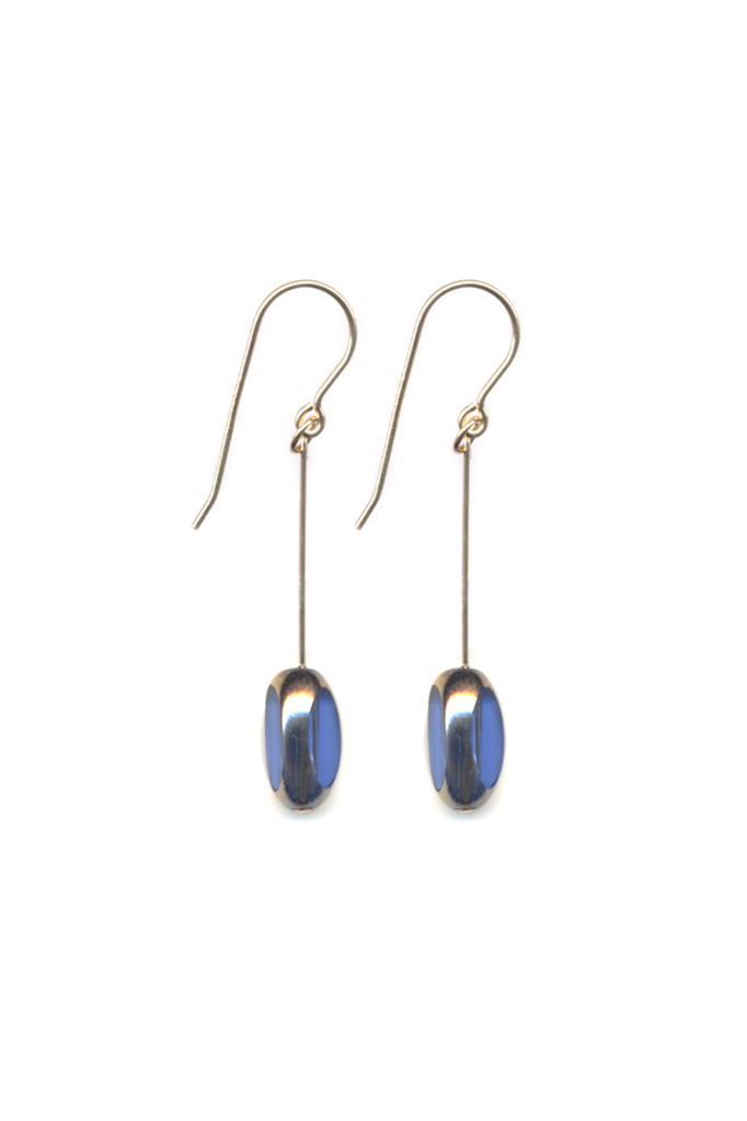 Blue Bean Jewel Earrings