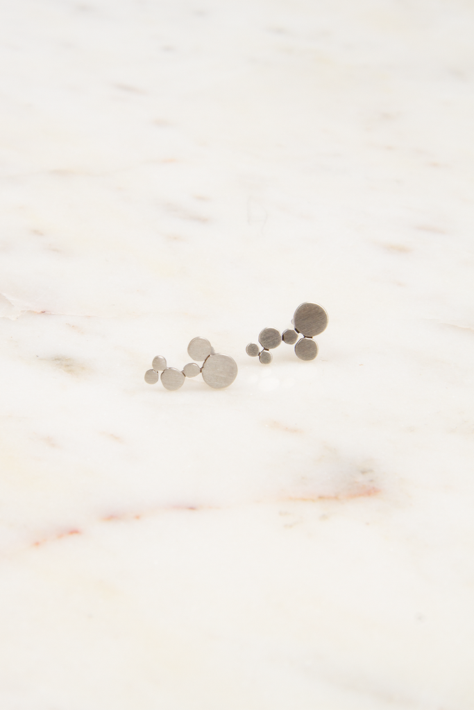 Sterling Silver Bubble Studs