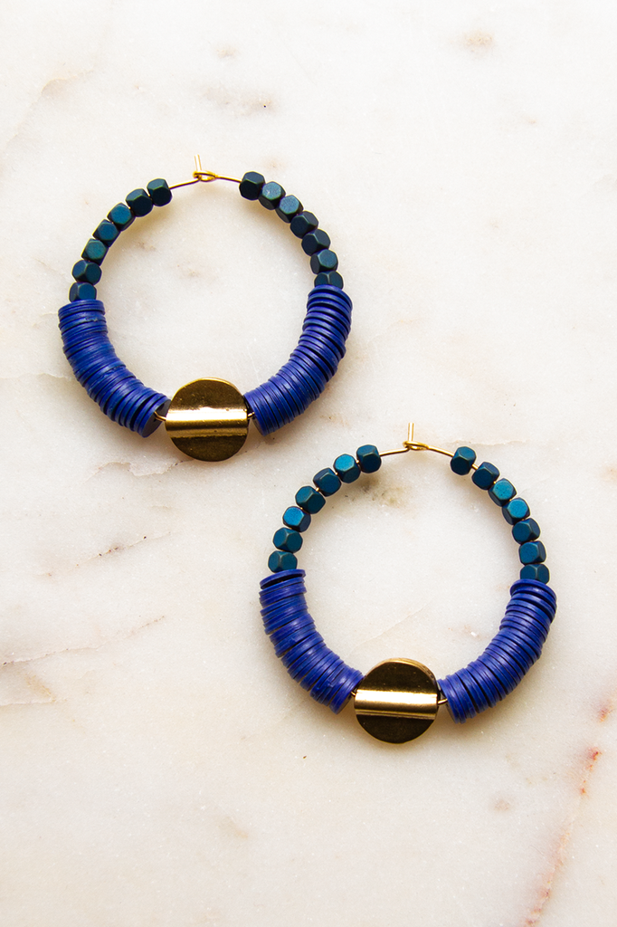 Brass Center Hoop Earrings
