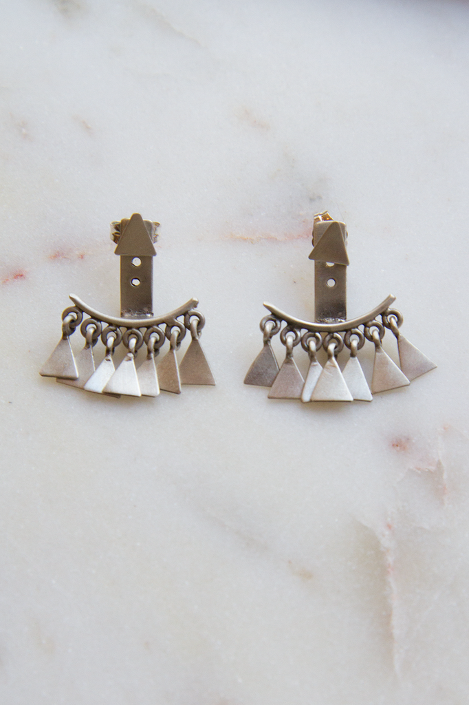 Triangle Dangle Hugger Studs
