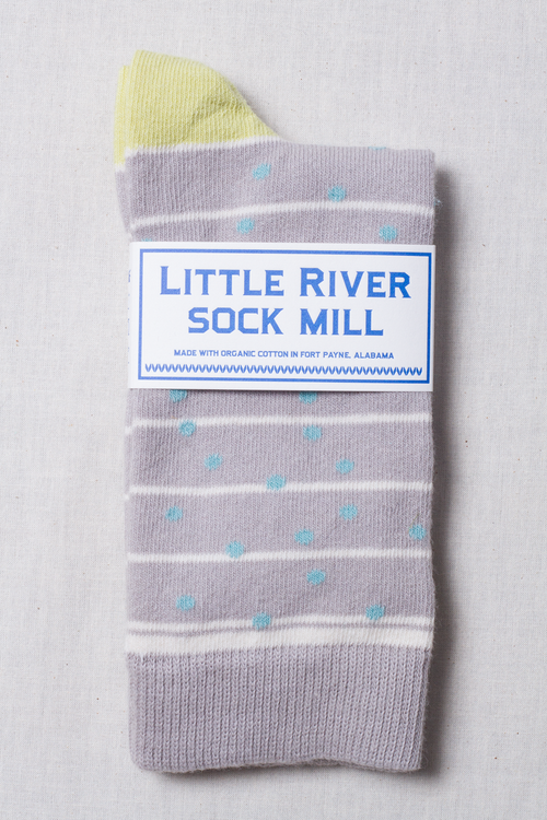 Grand Dot Crew Sock in Heather Multi
