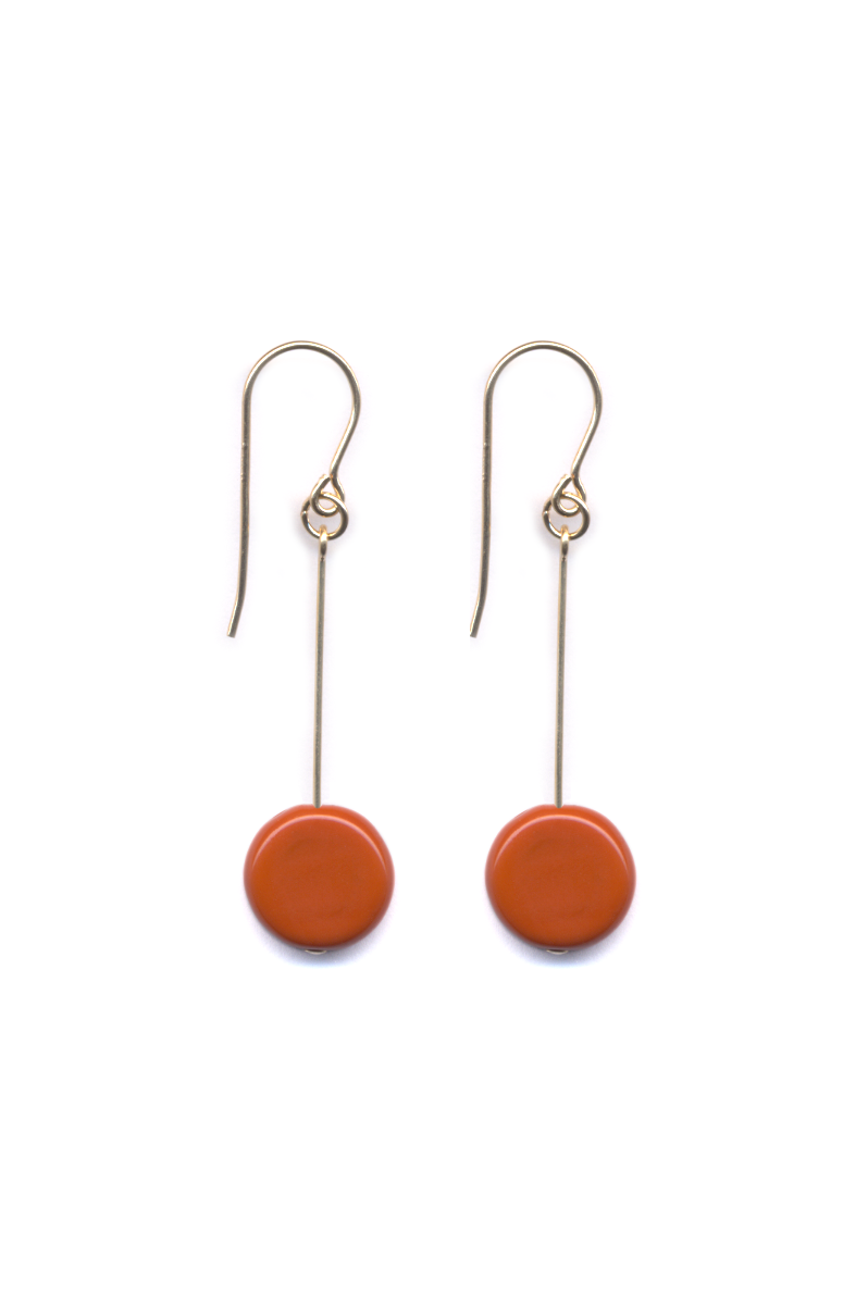 Circle Drop Earrings, Yam