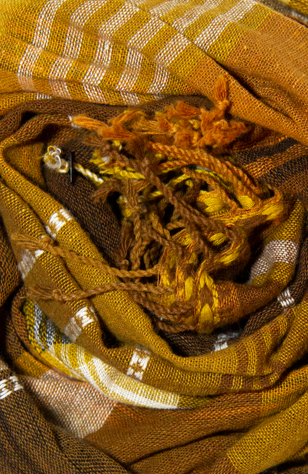 Kala Cotton Golden Plaid Scarf