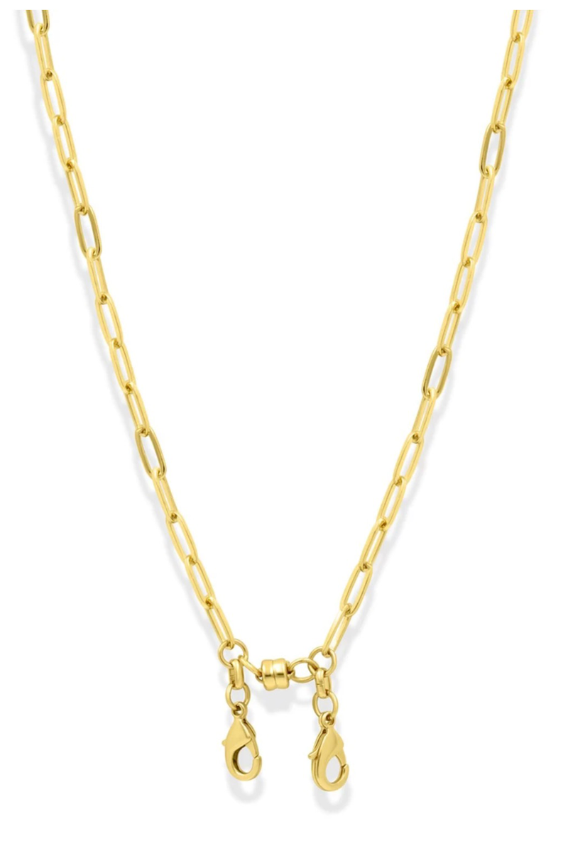 Convertible Paper Clip Chain Necklace, Gold