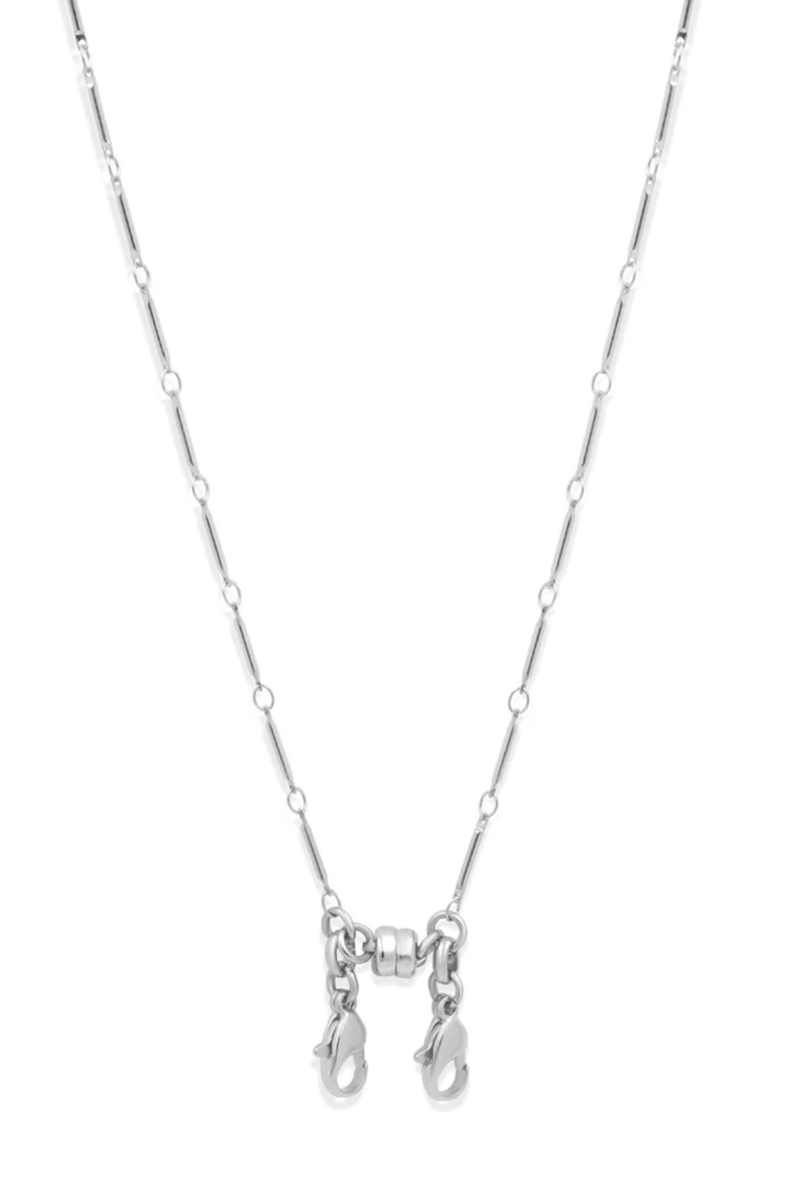 Convertible Station Chain Necklace, Silver