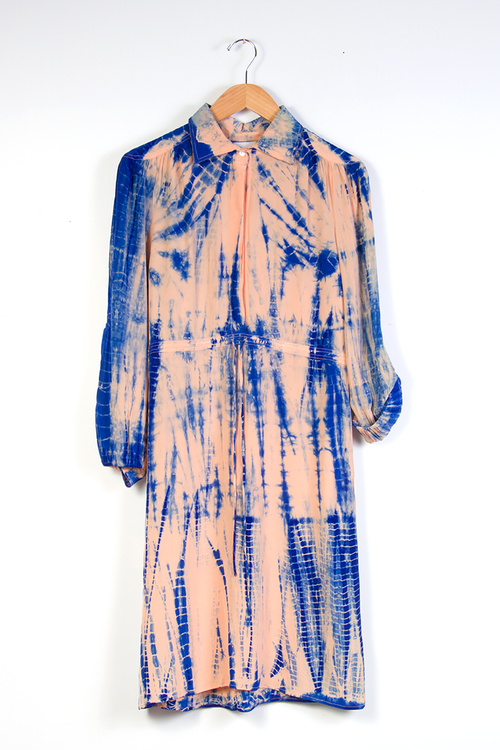 Swapna Dress in Shibori Silk