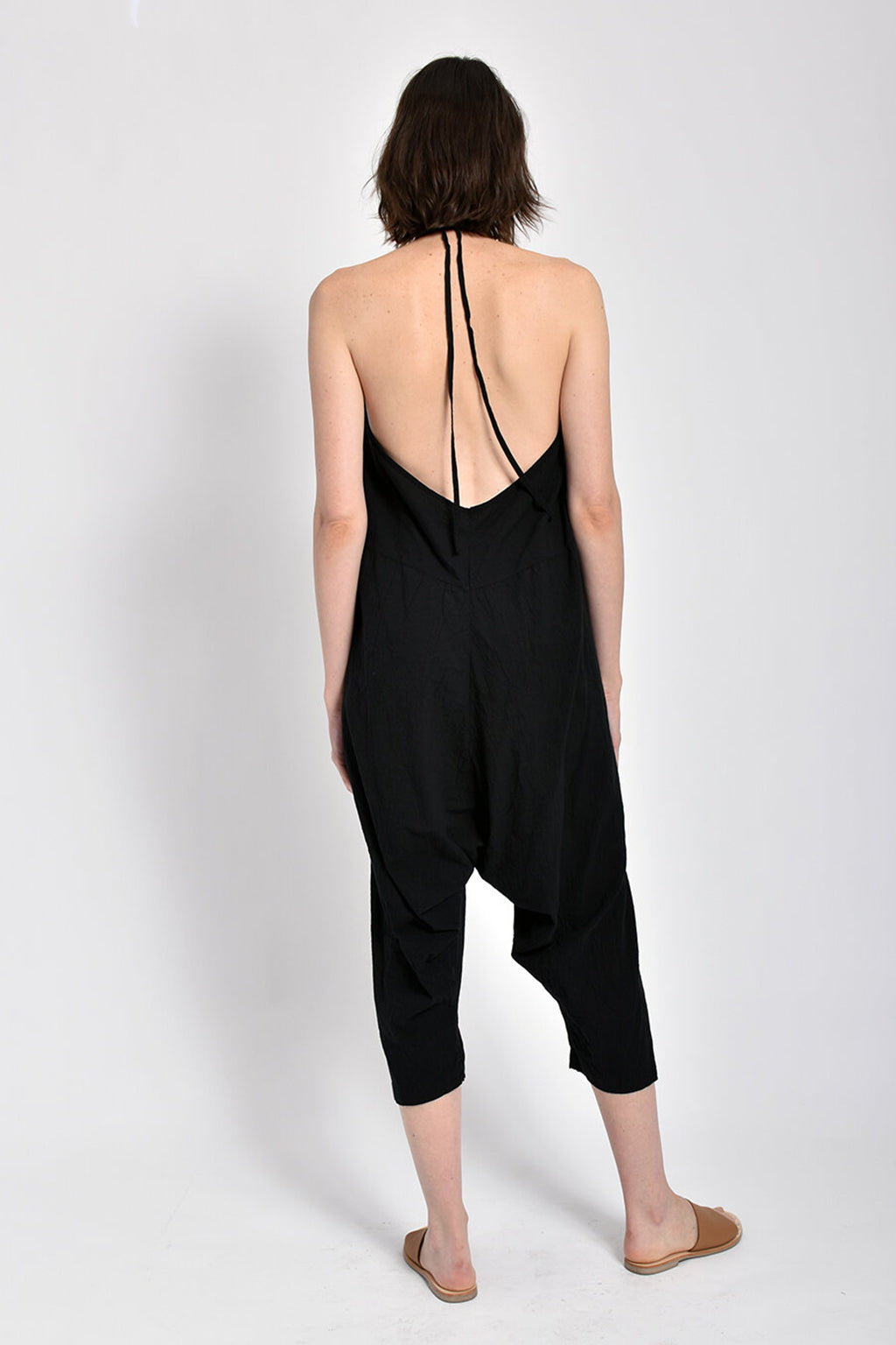 Halter Jumpsuit, Black
