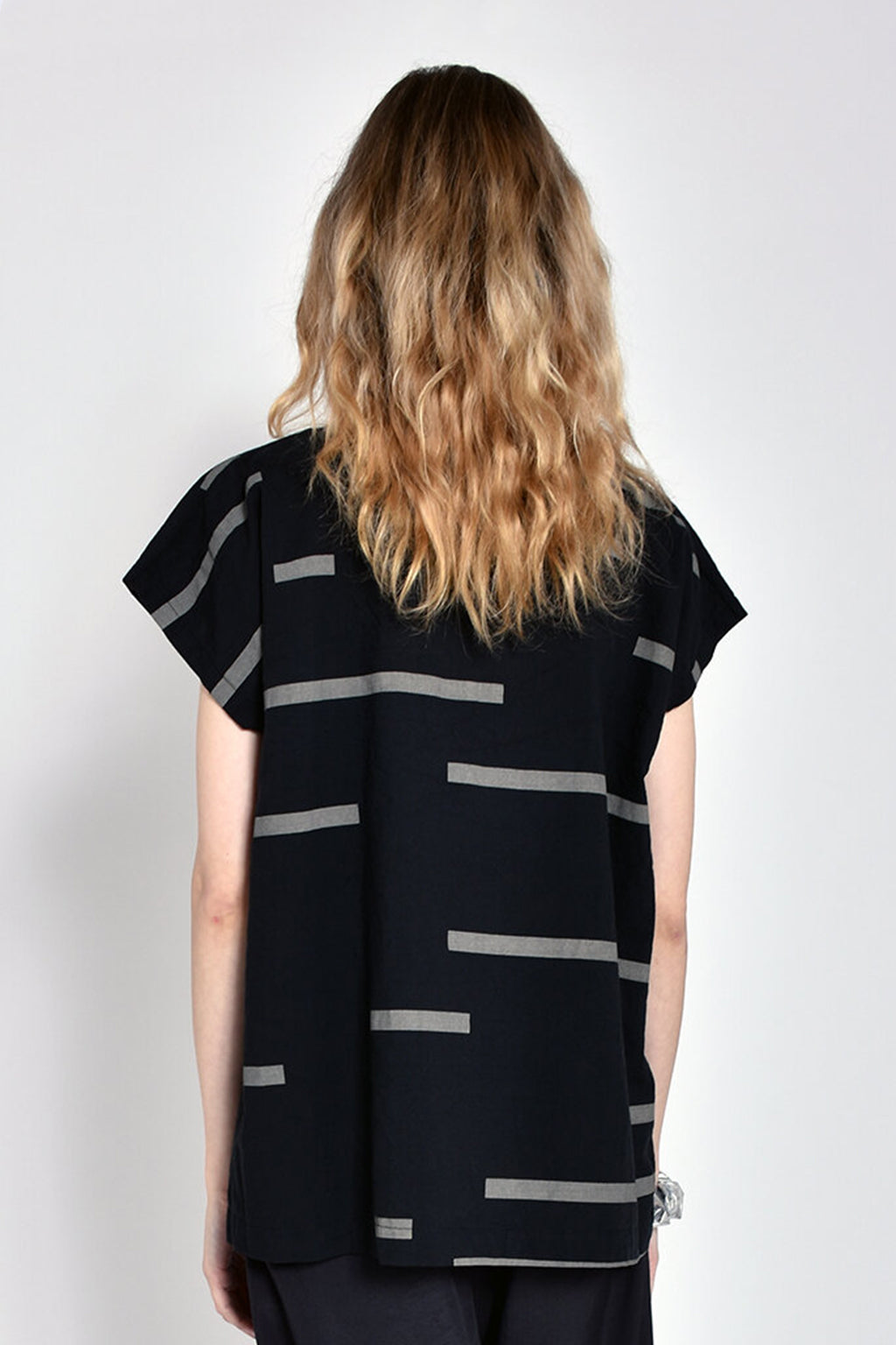 Printed Tunic in Broken Black