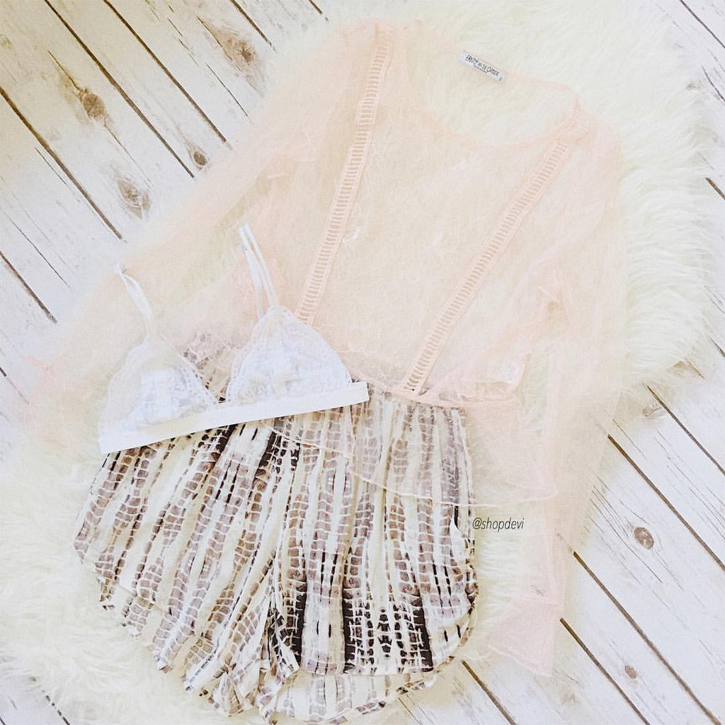 Kurstie Mesh Top (Blush)