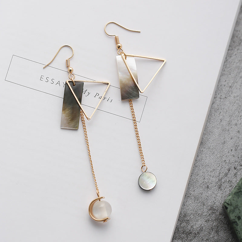 fashion shapes geometric femme d oreille pendante simple asymmetric long butterfly delicate boucle earrings products shopdevi shell