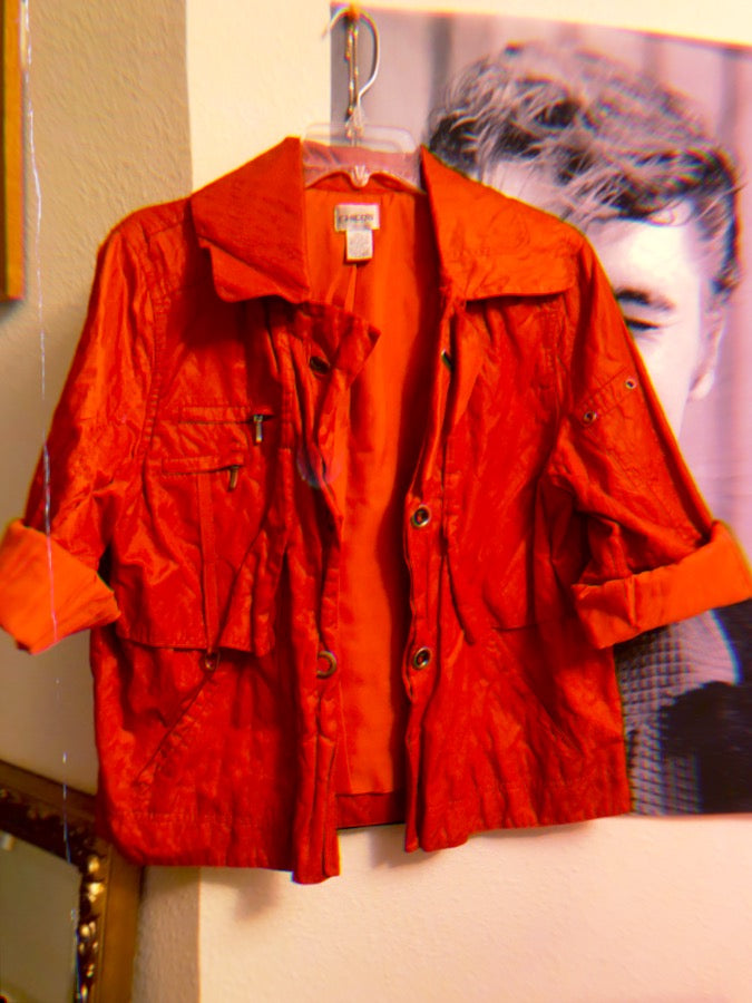 Chicos Orange Jacket