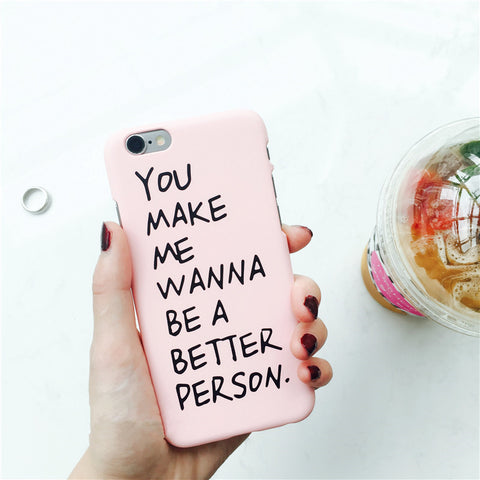 phone case Fashion English Letter Hard PC cover case for iphone 5 5s 5se 6 6s 6 Plus 7 7 plus 8 8 Plus X popular patterned  case
