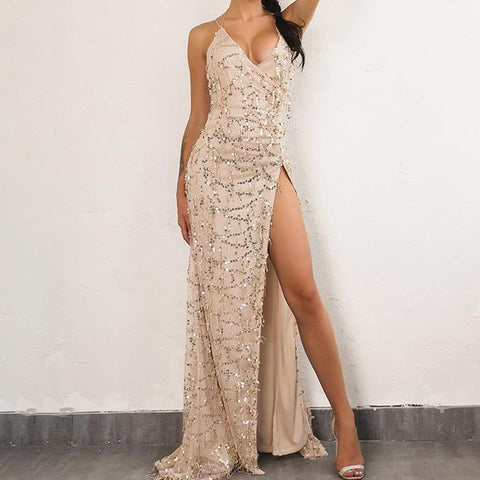 Walking On A Dream Sequin Adorned Dress