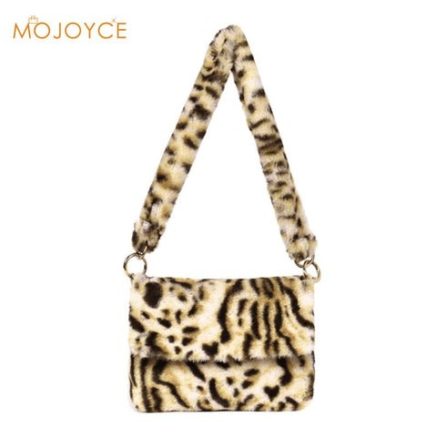 Animal Print Fuzzy Bag