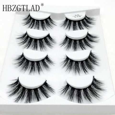 1/4 pairs natural false eyelashes fake lashes long makeup 3d mink lashes eyelash extension mink eyelashes for beauty