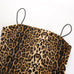 Leopard Print Bodycon Spaghetti Strap Mini Dress