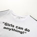 Girls Can Do Anything Crop Tee