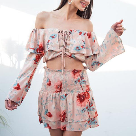 Alicia Floral Two Piece Set