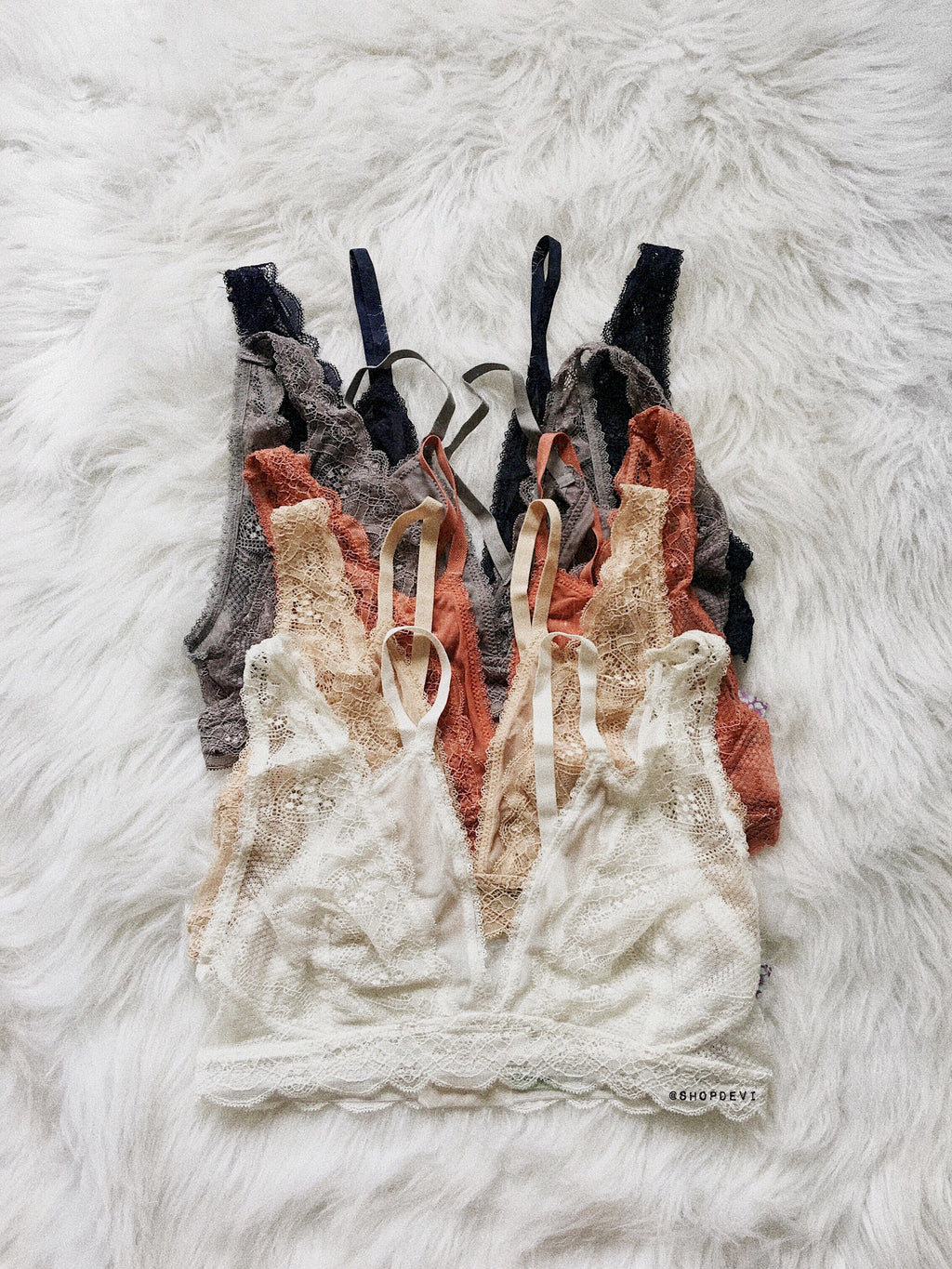 Rosa Bralette (Black, Gray, Navy, Beige, Pink Clay, White)
