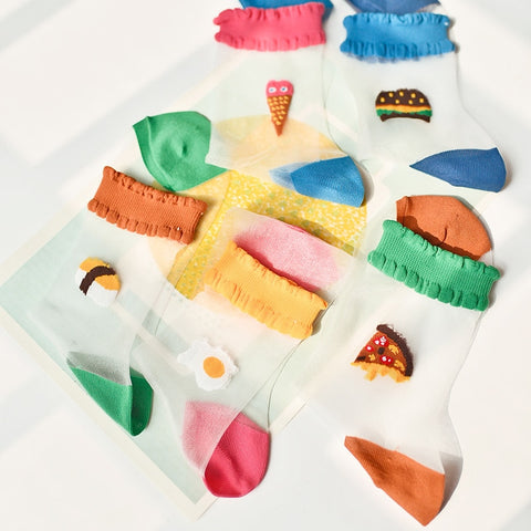 Foodie Mesh Socks