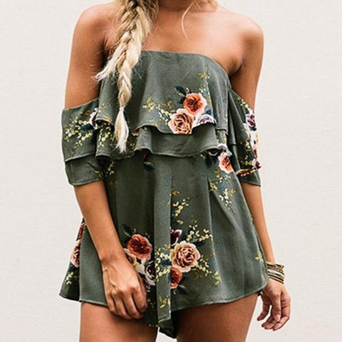 Sally Floral Romper