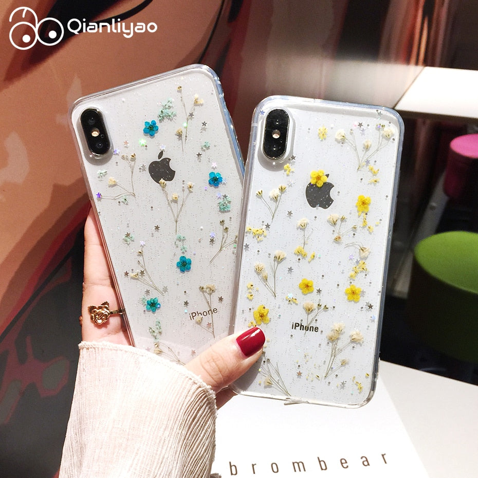 dried flower phone case iphone 8