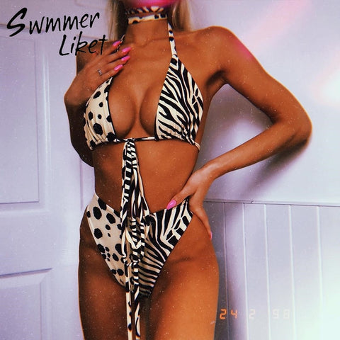 She's An Animal Bikini Swim Two Piece