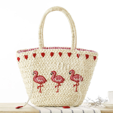 Women Shoulder Bag Summer Handbags New Fashion Totes Designers Straw Purse Woven Beach Totes Famous Designer Brand High Quality