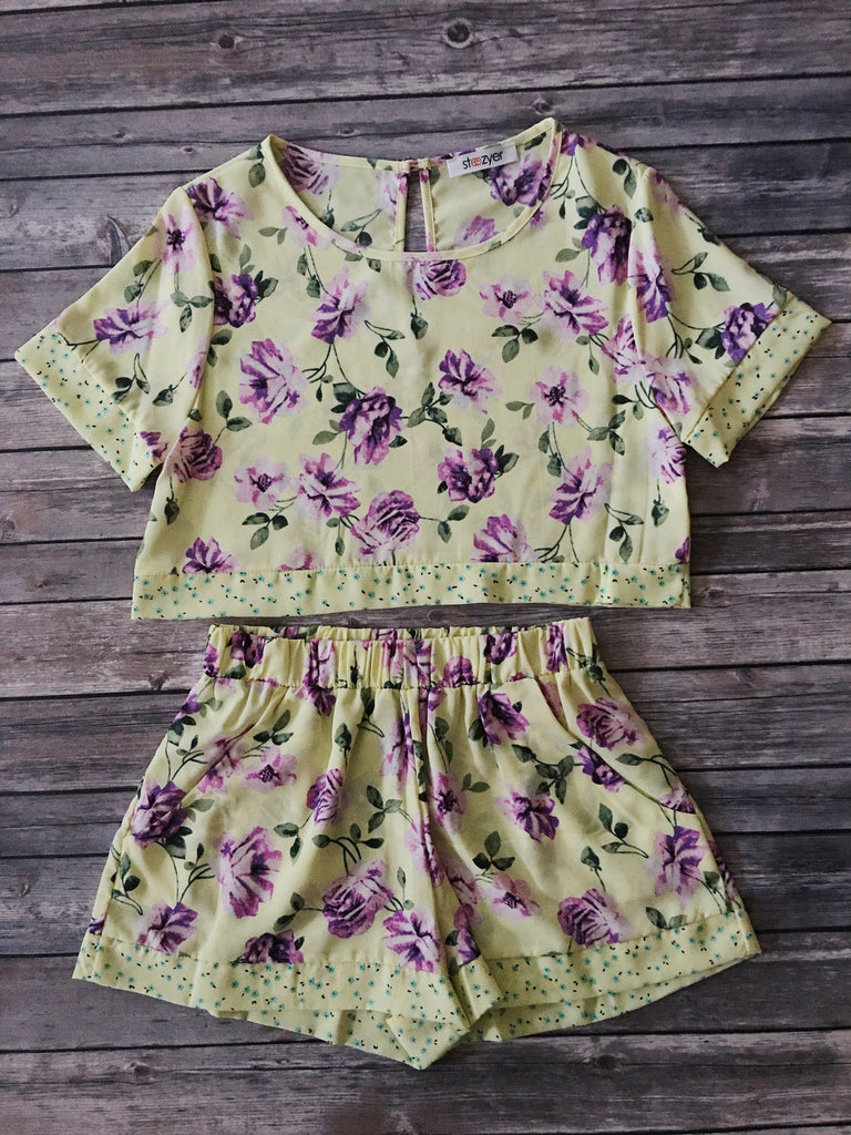 Kinsley Yellow Floral Top