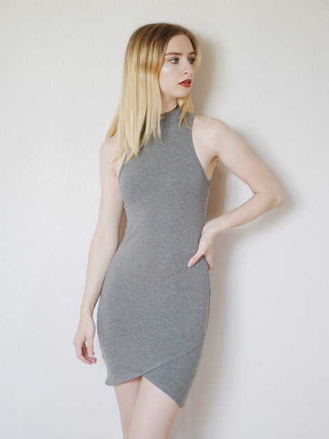 Iliana Bodycon Dress (Heather Grey)
