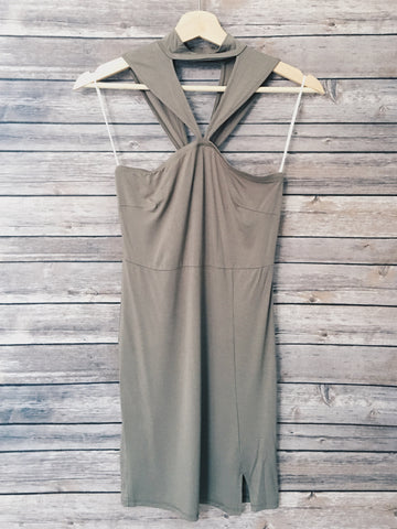 Asia Cocktail Dress (Olive)