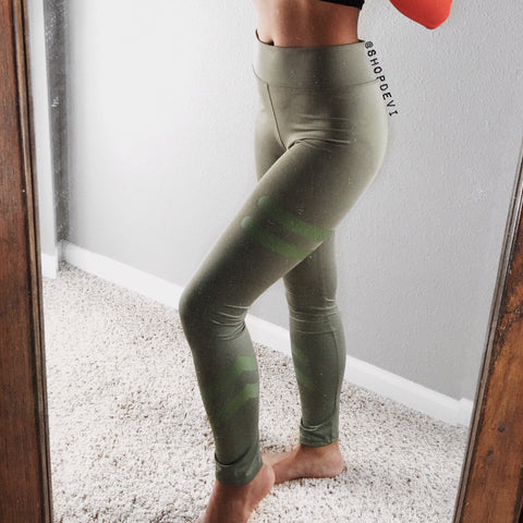 In It To Win It Leggings (Olive, Pink, Black)