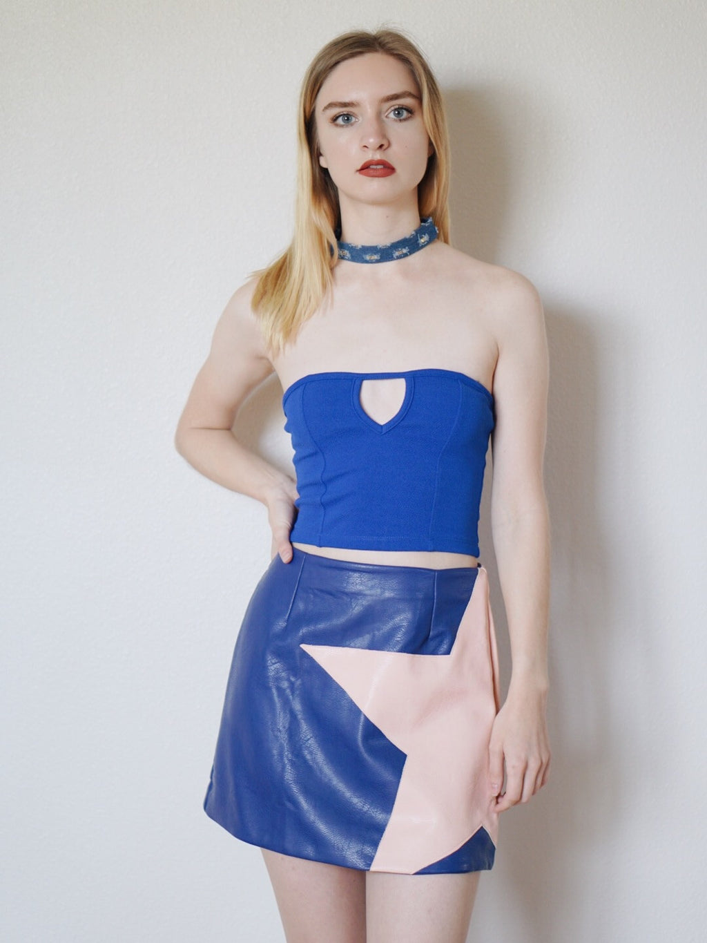 Star Girl Leatherette Skirt