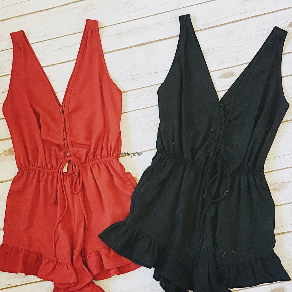 Play Romper (Black)