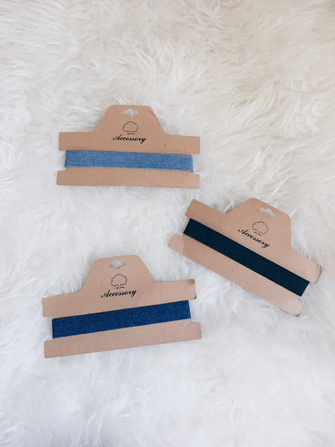 Denim Strap Choker