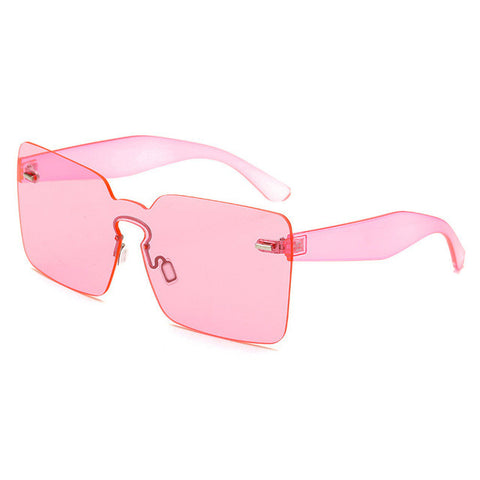 Rimless Sunglasses Women Vintage acetate frame