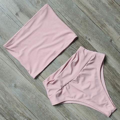 Tara High Waisted Two Piece Swim Set