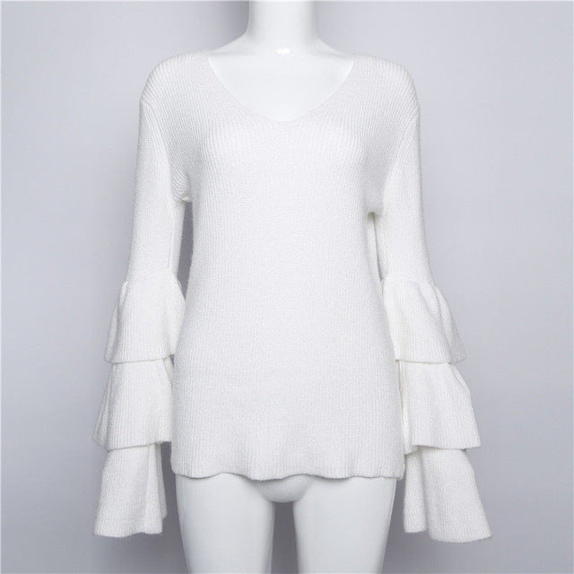 Ashley Tier Ruffle Sweater