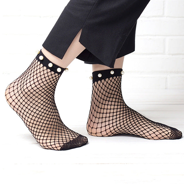 Fishnet Stylized Socks