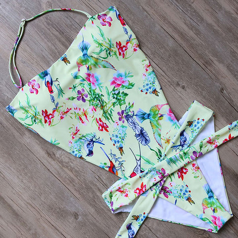 Haven Tie Around Printed One Piece