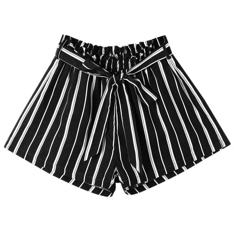 Meadow Striped Tie Shorts